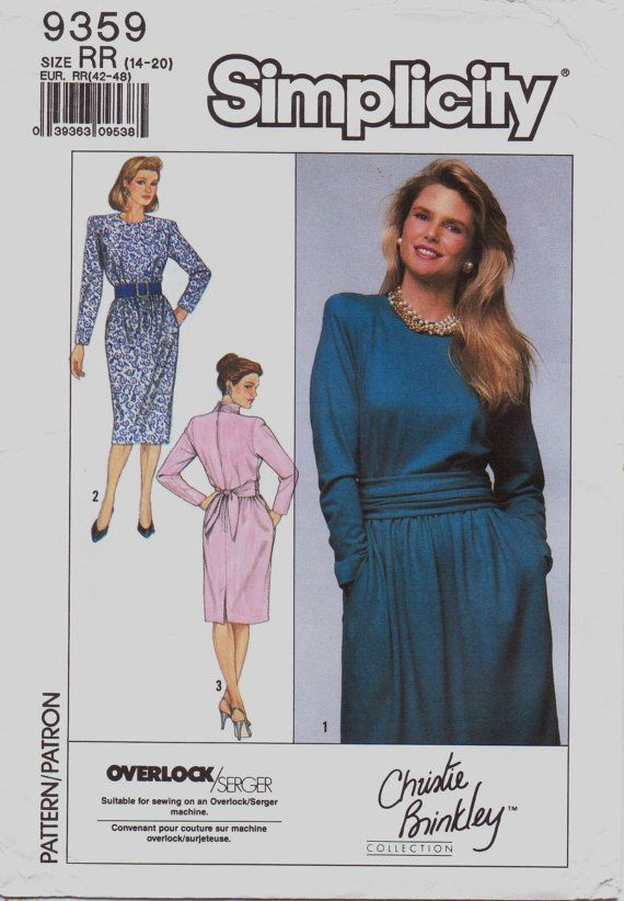 1980s Simplicity Pattern 9359 Christie Brinkley by CloesCloset, $8.00