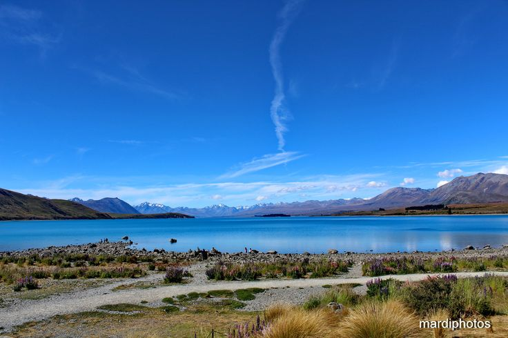 Lake Tekapo with the Southern Alps behind