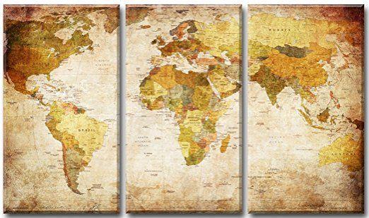 Images sur toile 160 cm Nr 1166 monde pret a accrocher