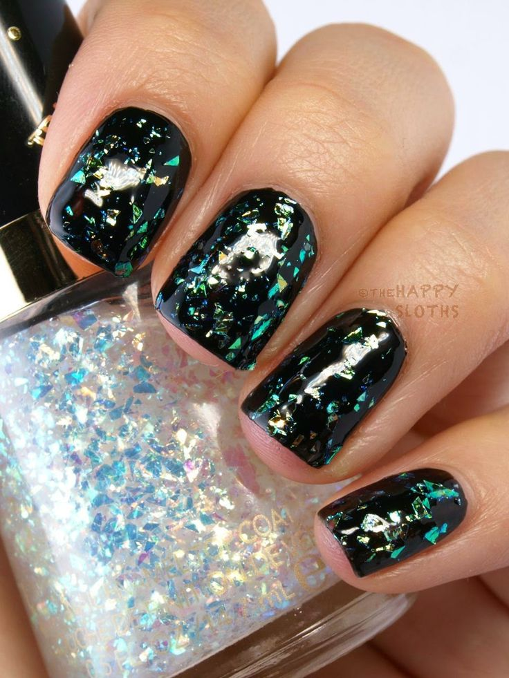 Revlon Spring 2015 Transforming Effects Top Coat: Review and Swatches Cosmic Flakies