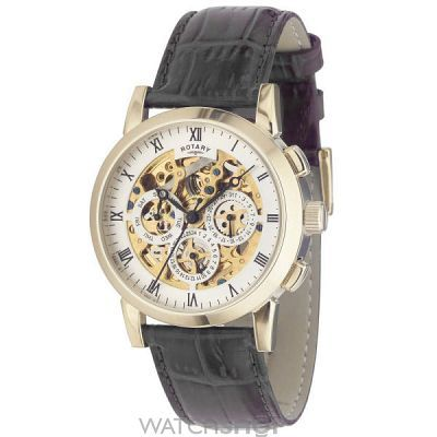 17 best images about watches skeleton watches next mens rotary vintage skeleton automatic watch gs02375 01