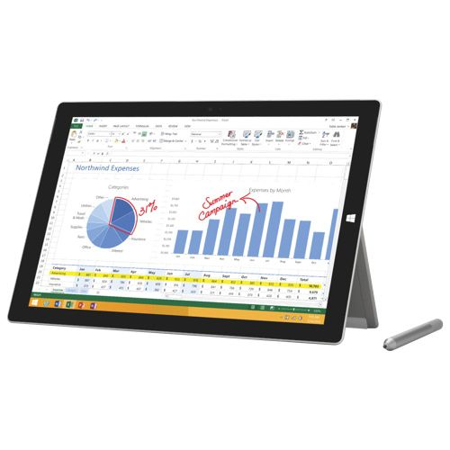 """Microsoft Surface Pro 3 12"""" 128GB Windows 8.1 Pro Tablet With Intel Core i5 Processor - Silver #SetMeUpBBY need this for lectures"""