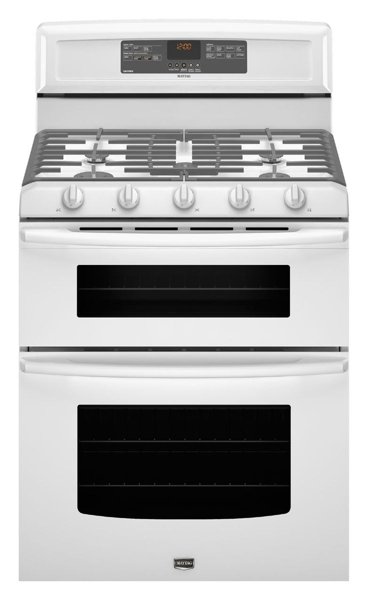 maytag gemini 30 doubleoven gas range white from imperial - Double Oven Gas Range