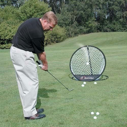 Take your golf short game to the next level with this high quality pop up golf practice chipping net by Olympia Sports