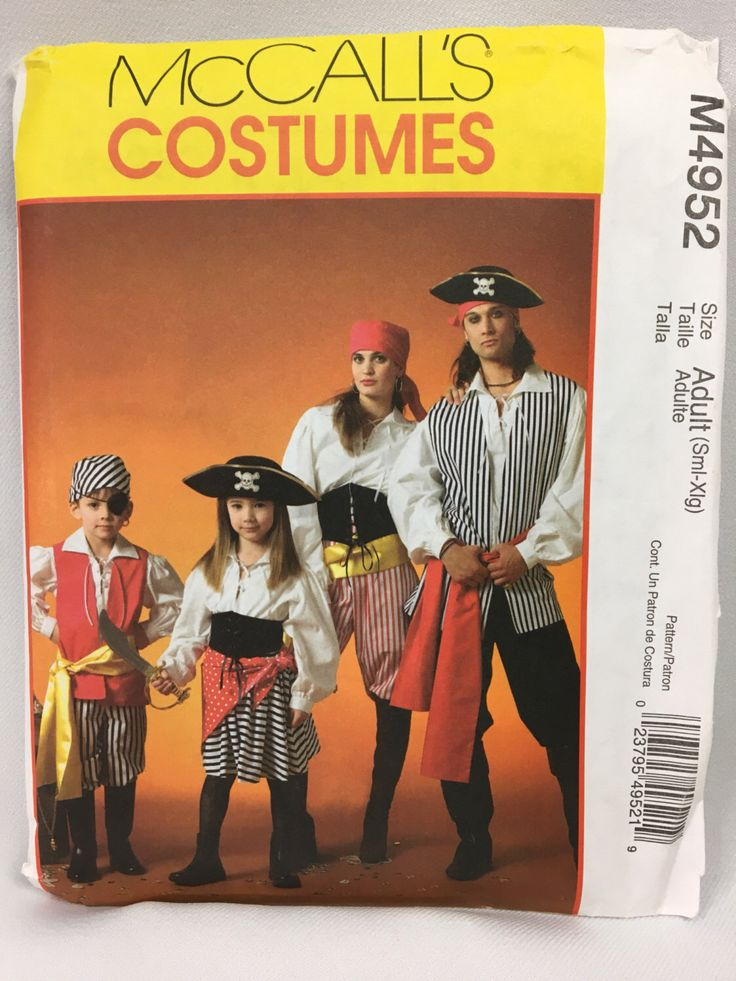 A personal favorite from my Etsy shop https://www.etsy.com/listing/503831035/adult-pirate-costume-mccalls-4952