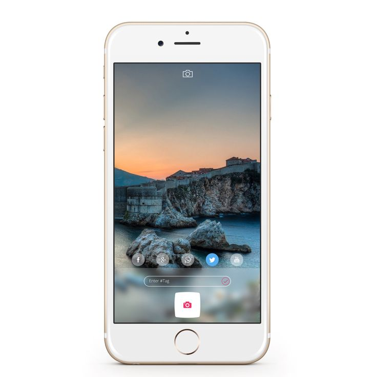 iOS camera application mockup design