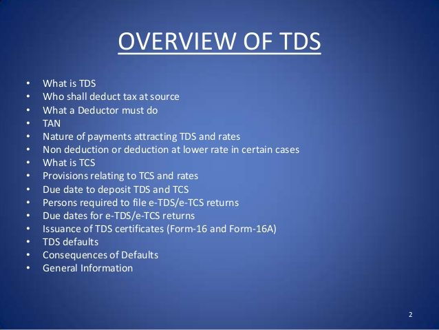 TDS is an abbreviated form of Tax Deducted at Source which is required to be deducted while making payment to parties at a given rate.
