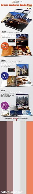 Square Brochures Bundle Pack Color Scheme