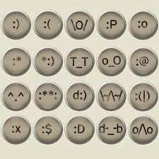 """Emoticons no teclado! :-    ̿ ̿'̿̿̿̿̿'\̵͇̿̿\=((•̪●) (●̮̮̃•̃) ¬_¬ ⊙︿⊙ ⎝╰_╯⎠ *:o) ⁀‿⁀ ⁀‿ ⁀ ヅ ツ ツ ッ シ ジ ッ  (ړײ♥ ツ ヅ  ⊙‿⊙   (╥﹏╥)  ^‿^ >‿<   εїз  ☺ ☹ ☻ (‧'''‧)   ๑(•ิ.•ั)๑  (,"""") ♥ ("""",)   (Ø_©)  ⍨ ☠  :-≬  (⌒‿⌒)   ⁽(ົ‿ົ)⁾   ༽ ⁽༾ྋḻྋ༿⁾ ༼   Ƹ̵̡Ӝ̵̨̄Ʒ 【ツ】✿⊰  ઇઉ  (→ܫ◕ฺ人◕ฺฺܫ◕ฺ)"""