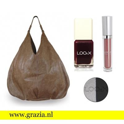 Deel en like! Voor Goodiebag Tuesday geven we deze week een mooie leren tas van Lookx vol beautyproducten weg. Klik hier om mee te doen-->http://www.grazia.nl/2013/02/12/goodiebag-tuesday-win-leren-tas-met-beautyproducten/