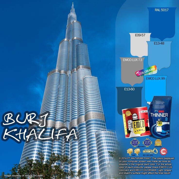 Burj Khalifa #BiasaJadiLuarBiasa #EMCOPaint http://matarampaint.com/detailNews.php?n=302