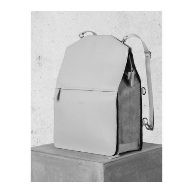 The ultimate city bag - rucksack, tote, clutch - genuine leather