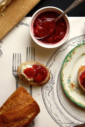 Strawberry Raspberry Vanilla Quick Jam