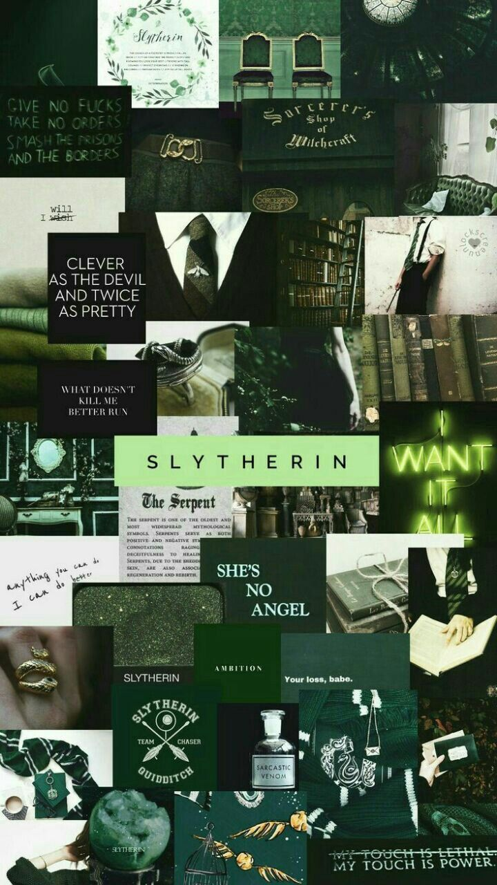 More of a darker toned one for more. Slytherin-Aesthetic in 2020 | Harry potter wallpaper