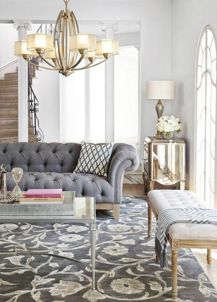 11 Spring Decorating Trends To Look Out. Chesterfield Living RoomChesterfield  SofasChandelier ...