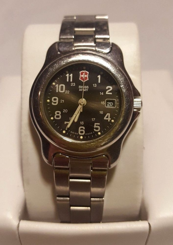 Swiss Army Mens Wrist Watch Officers Victorinox  24706 New Battery  Discontinued #SwissArmy #Military