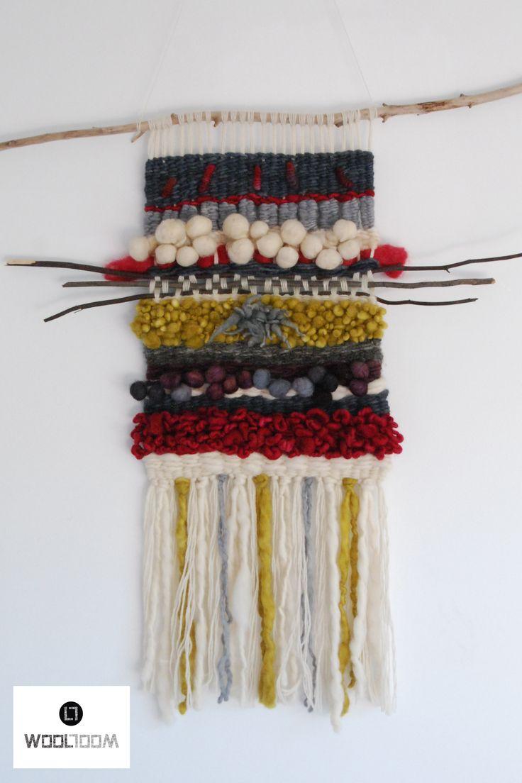 Fairy tale - Hand woven wall hanging // weaving // telar decorativo made by WooL LooM - www.facebook.com/WooLLooM