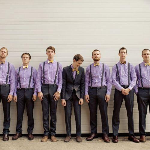 polkadot,Groomsmen,attire,boys,dress,entourage,groom,guys,lavender,man,men,party,photography,purple,lemon,purp
