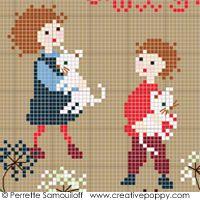 Perrette Samouiloff - Wild berries wreath ABC (large pattern) - cross stitch