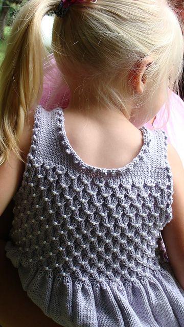 Ravelry: Lilah pattern by Mavis Adam. I like the back on this dress.