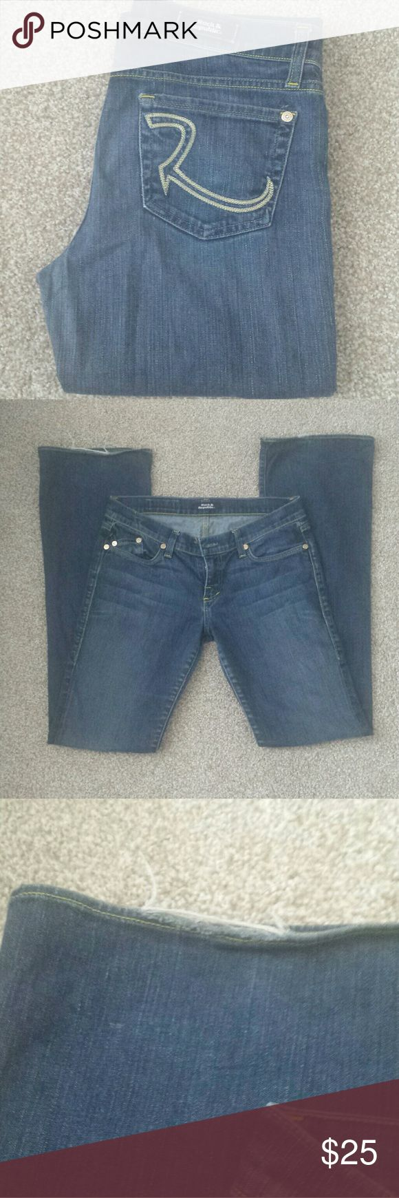 """Rock & Republic Jeans Very cute! 98% Cotton, 2% Spandex. Inseam is about 35 1/2"""", Lowrise: about 8"""". Please feel free to make a reasonable offer! Rock & Republic Jeans"""