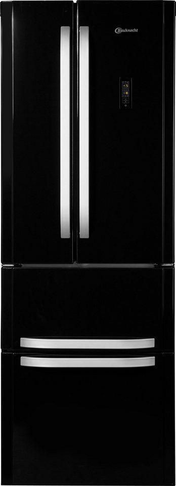BAUKNECHT French Door Kühlschrank KSN 19 A2+ SW, A++, 195 Cm Hoch, NoFrost