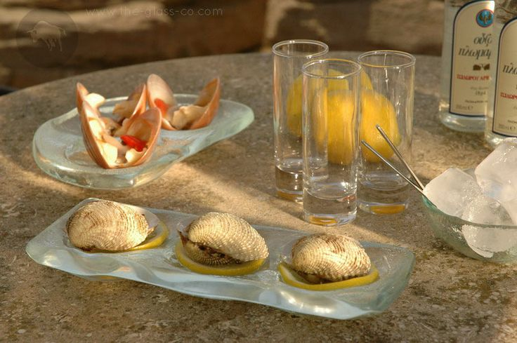 #Oyster #Service Oyster plates designed by www.the-glass-co.com