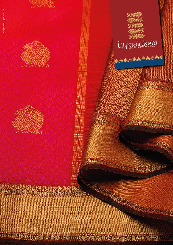 Majestic birds poised to unravel long standing mysteries. The intuitive understanding that the taffy pink on crimson red shares is the same camaraderie that the bronze zari work shares with the brown border and pallu. Pretty zari details add variety on the border and pallu. #Sareeoftheday#Silksaree#Kancheevaramsilksaree#Kanchipuramsilks#Ethinc#Indian #traditional #dress#wedding #silk#saree#craftsmanship #weaving#Chennai #boutique#vibrant#exquisit #pure #weddingsaree#sareedesign#colorful…