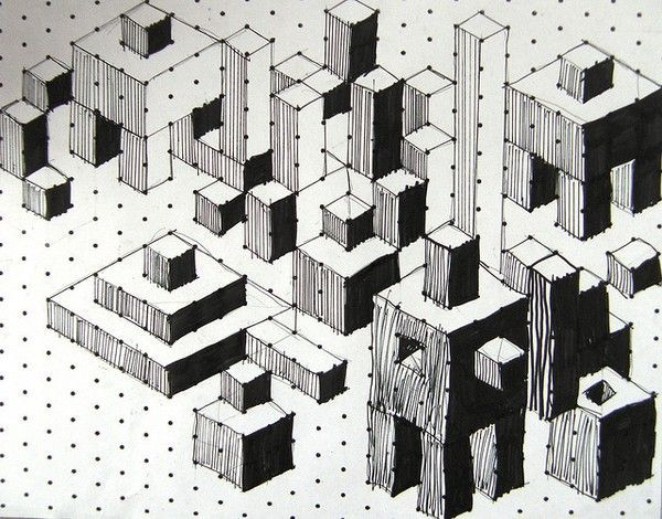 how to draw an isometric grid by hand