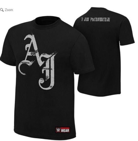MY SPIZZOT: WWE Release's AJ Styles T-Shirt  #RoyalRumble