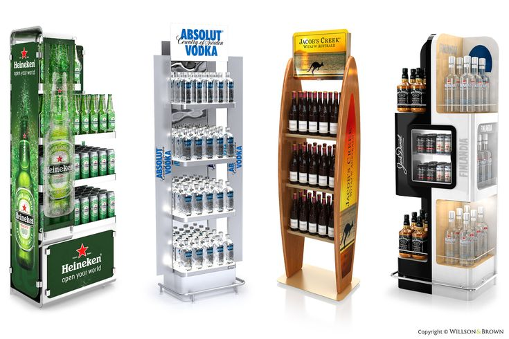 Producent materiałów POS, displaye, standy, regały, traye, ekspozytory – Willson & Brown   Floor displays and pallet systems