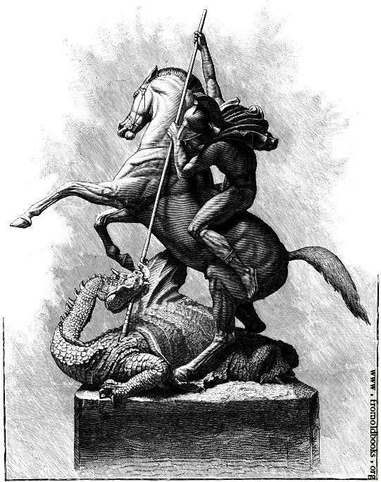 St. George and the Dragon  -   - Vintage Image. $4.90, via Etsy.