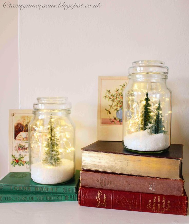 Homemade Snow Globes - A Vintage Christmas