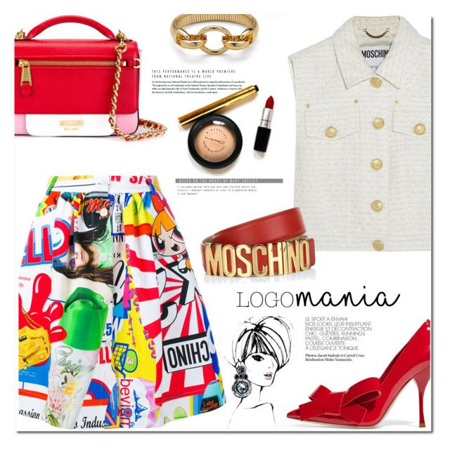 """Logomania!"" by huda-alalawi ❤ liked on Polyvore featuring Moschino, Miu Miu and Diane Von Furstenberg"