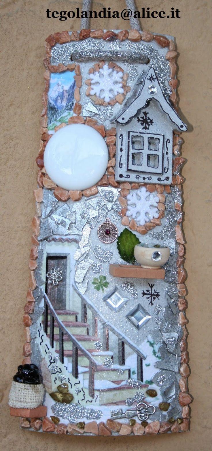 Tegolandia...: Tegola di legno con decorazione decoupage e 3D...s...