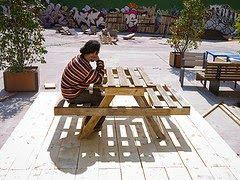Muebles de palets: Planos para hacer una mesa de picnic y una compostadora con palets