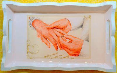 Jewellery Mini Tray Mixed Media on Wooden Canvas @The Art of Creativity Studio