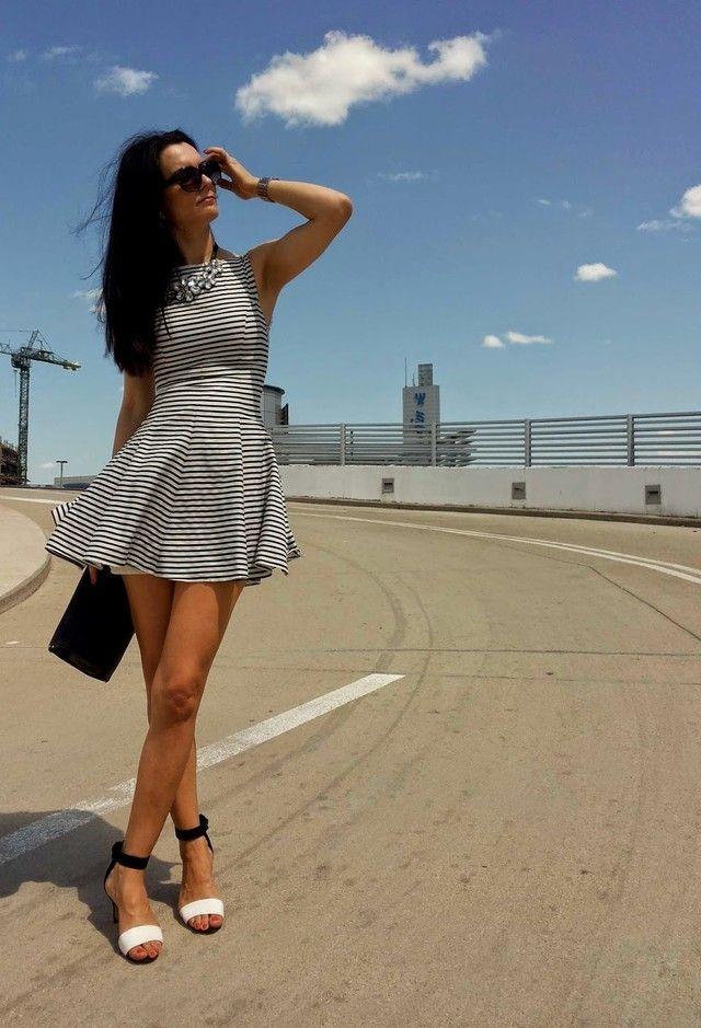 @roressclothes closet ideas #women fashion Stripe Short Dress for Date