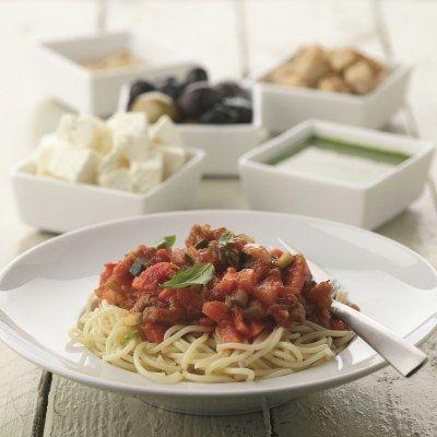 Spaghettitafel · EVA maakt het plantaardig