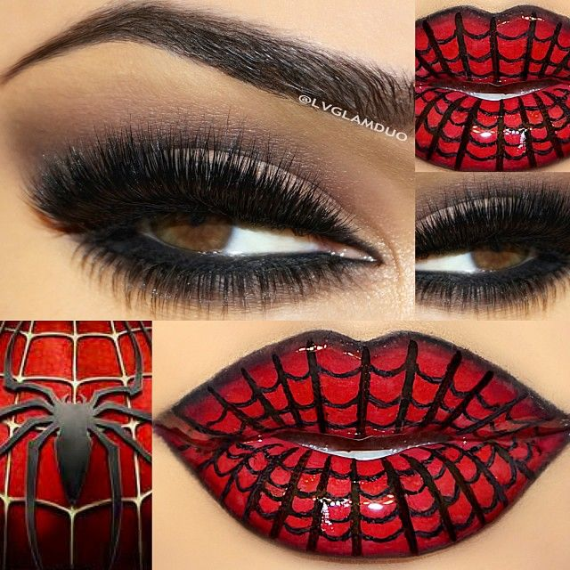 Halloween Spiderman look created by #lvglamduo using #MotivesCosmetics!