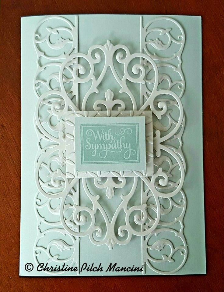 Sympathy card made with Anna Griffin's Lace Trimmings and Metallic card and layer #AnnaGriffin #Cuttlebug#SympathyCard