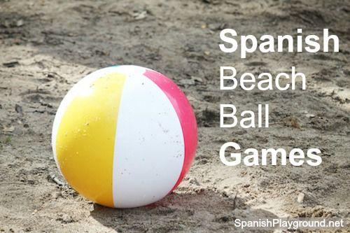 7 Fun Spanish games for kids using a beachball. Easy activities, great for speaking Spanish. #Spanish speaking skills #Spanish speaking activities #Spanishgames http://spanishplayground.net/7-spanish-beach-ball-games-kids/