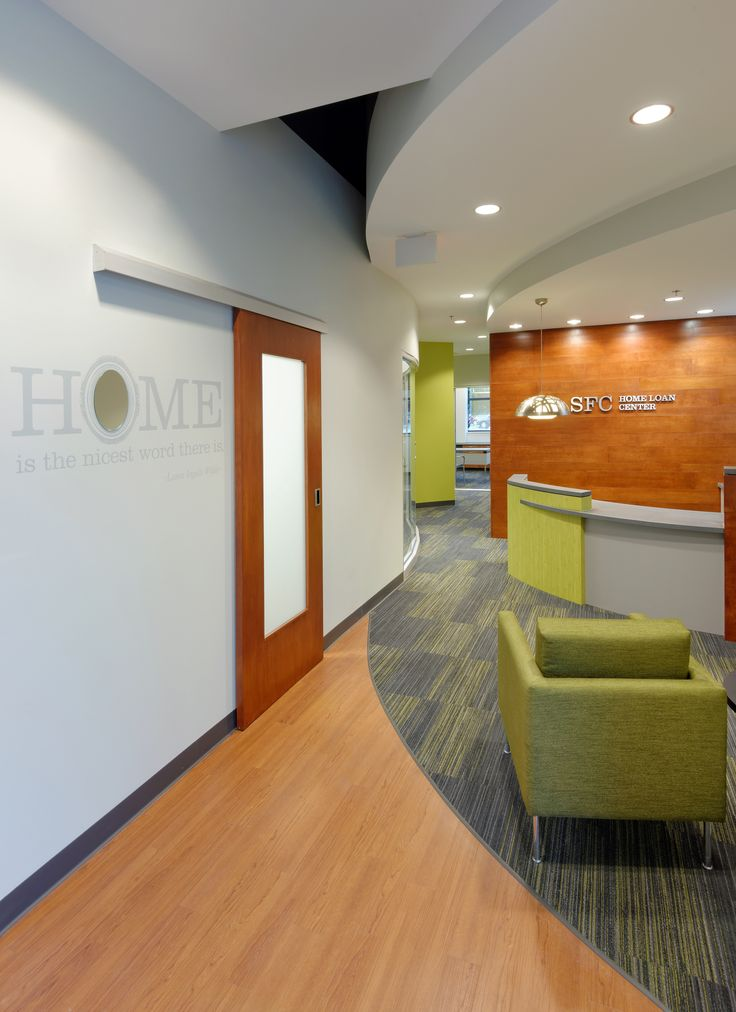 Commerical interior design sfc home mortgage center for Bright green interiors
