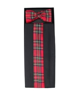 93% OFF Gitman Brothers Men's Saltin Cummerbund & Bow Tie Set (Black/Red)