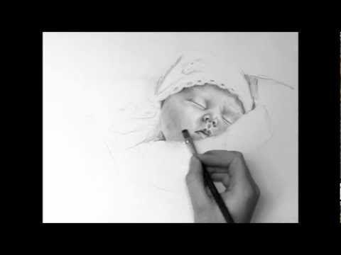 Kinder - Bleistiftportrait. Realistisch Zeichnen. speed painting.Portrait drawing. Painting. - YouTube
