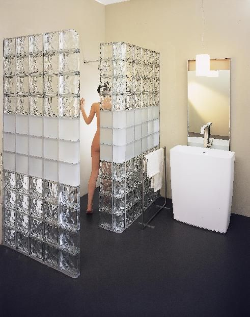 glass block walls in bathrooms | keep it simple and tasteful with optional satin finish this project ...