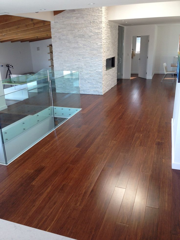 Contemporary Style Using Ebony Bamboo Floors