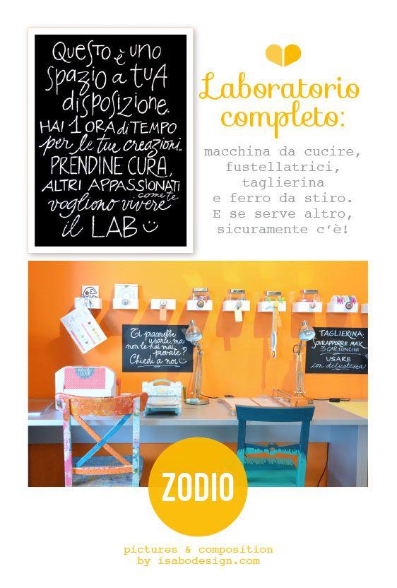 All'interno dell'atelier di Zodio Italia, uno spazio Lab, con macchine ed attrezzi a disposizione dei clienti. Ph: Isabo