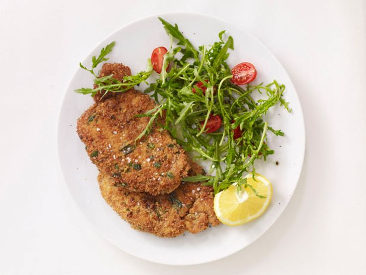 Pork Milanese recipe from Food Network Kitchen via Food Network