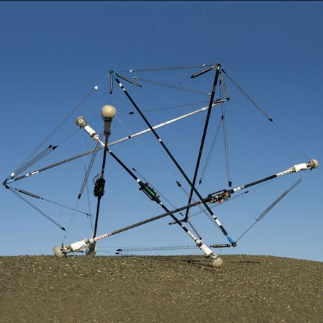 NASAs new robot is designed to bounce and roll across rough terrain | News: NASA is developing robots made from a tensile system of interlocking rods and cables that can transform from flat components into a ball shape then tense and flex to roll around the surface of planets.